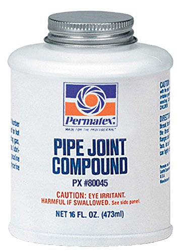 Permatex 80045 Black Pipe Joint Compounds, 16 oz. Bottle (Pack of 12)