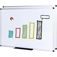 VIZ-PRO Magnetic Dry Erase Board, 36 X 24 Inches,2 Pack, Silver Aluminium Frame