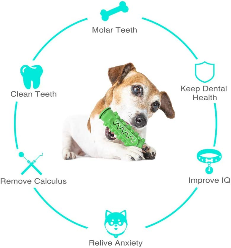 blue MEKEET Dog Chew Toys Soft Rubber Teeth Cleaning Puppy Dental Oral Care Chew Toys Indestructible Dog Toothbrush Stick Tough Strong Teething Chew Toy for Large//Medium Dogs