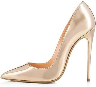 CYMIU Große Größe Spitz Fein Hochhackigen Einzel Schuhe Damen Bankett Schuhe Hochzeit Mode Schuhe Niet Nähte Multicolor