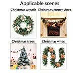 Louiesya-Pack-of-6-Glitter-Artificial-Wedding-Christmas-Flowers-Glitter-Poinsettia-Christmas-Tree-Ornaments-Dia-9-Inch-White