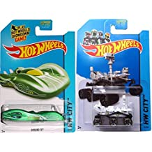 Mars Rover & Ground FX Hot Wheels Set 2014 Planet Heroes #73 & 71 IN PROTECTORS