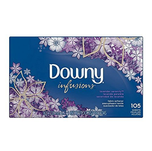 Serenity Lavender - Downy Infusions Fabric Softener, Lavender Serenity, 105 Little Sheets (Pack of 2)