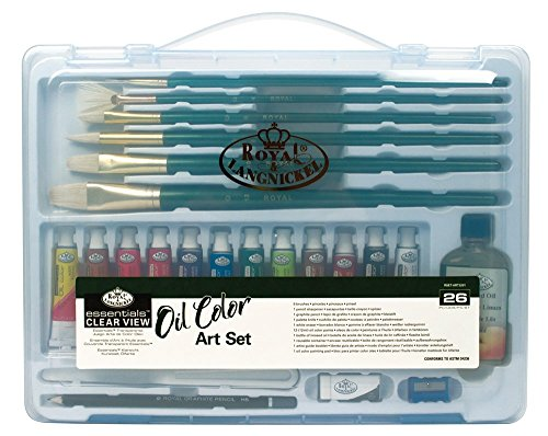Royal & Langnickel Essentials Clear View Oil Painting Set, Large