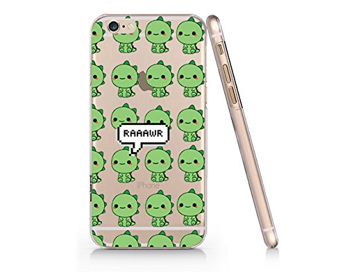 sale retailer 17c8b 60add Amazon.com: Cute Dinosaur Pattern Clear Transparent Plastic Phone ...