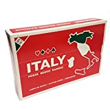 Ramino Italy Map Rummy Bridge Rosso Red Set of 2 Decks Playing Cards Modiano