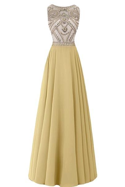 sunvary vaina para cuentas de raso vestidos de fiesta Homecoming Fiesta Amarillo amarillo 20 W
