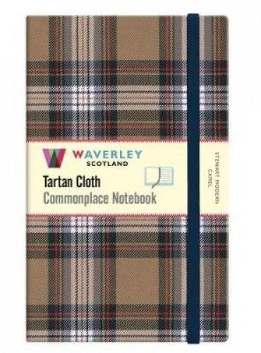 Stewart Modern Camel: Large: Waverley Genuine Tartan Cloth Commonplace Notebook (21cm x 13cm) (Waverley Scotland Tartan Cloth Commonplace Notebooks/Gift/Stationery/Plaid Stationery items (WZS))