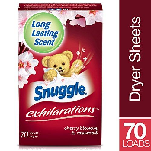 Snuggle Exhilarations Fabric Softener Dryer Sheets, Cherry ...