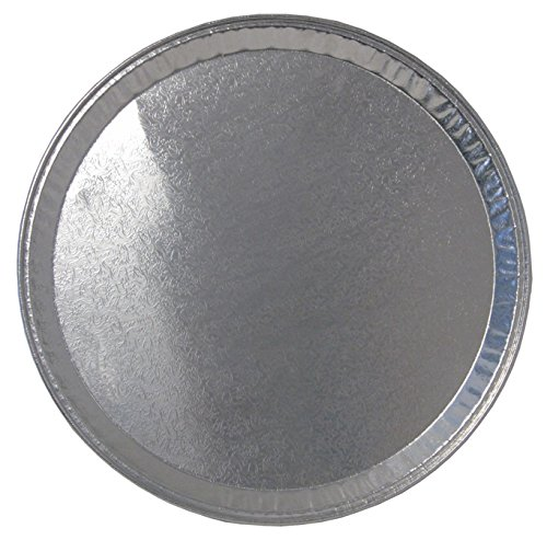 Durable Packaging Disposable Aluminum Round Flat Serving Tray, 16'' (Pack of 25) by Durable Packaging (Image #1)