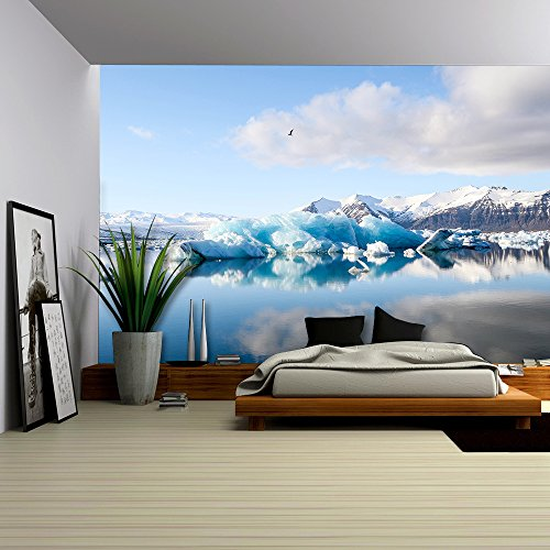 Glacier and Calm Water Surface