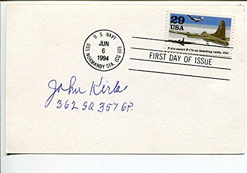 John Kirla P-51 Fighter Pilot WWII War 362nd Squadron Signed Autograph FDC - MLB Cut Signatures ()