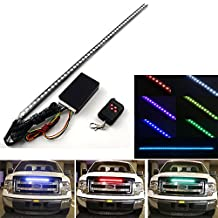 "1X Complete Set 22"" Universal Fit Knight Rider Scanning 7 Color Super Bright 55 SMD 48 Running RGB LED Bar Strip Third Brake Light With Wireless Sound Remote Control + Control Module For Chevrolet Aveo Avalanche Camaro Cruze HHR Suburban Tahoe Colorado Silverado Trailblazer 4 Door"