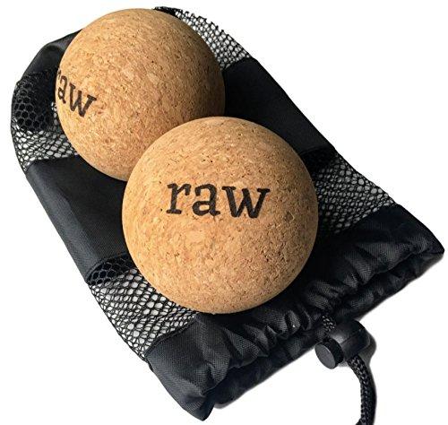 Rawlogy 100% Cork Massage Ball Set for Reflexology & Self-Massage (Firm) | Designed by Ultralight Hikers by rawlogy