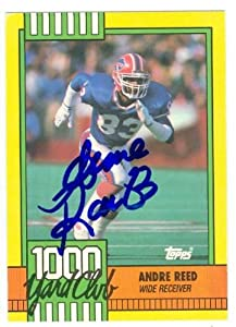 Andre Reed autographed Football Card (Buffalo Bills) 1990 Topps 1000 Yard Club #7