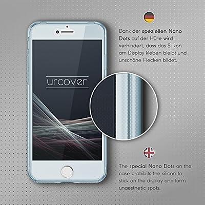 Urcover® Funda Compatible con Apple iPhone 7/8 Carcasa Protectora 360 Grados Silicona Gel en Transparente Full Body Protección Completa Delantera ...