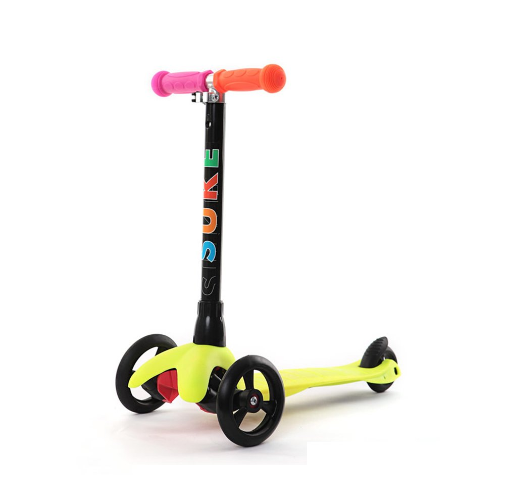 スクーター/子供の三輪車プーリー いえろ゜/ベビースクーター B07FPKS9VC/オプション/4色を解除することができます イエロー イエロー いえろ゜ B07FPKS9VC, みついしや:b641d5fe --- kapapa.site