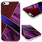 iPhone 6S Case, iPhone 6 Case Protective Soft Flexible TPU Cover Mooden Painting Shock Absorption Resistant Bumper Anti-Scratch Slim Shell Cute Skin for iPhone 6S / iPhone 6 Edauto - Purple