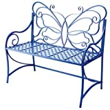 Lilac Butterfly Garden Bench Iron Lilac Iron by Midwest-CBK