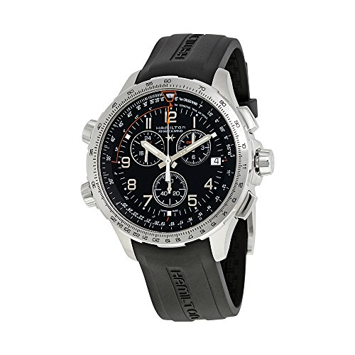 Hamilton X-Wind GMT Black Dial Mens Chronograph Watch H77912335
