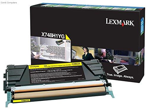 Lexmark X748H1YG Yellow OEM Toner High Yield (10,000 ()