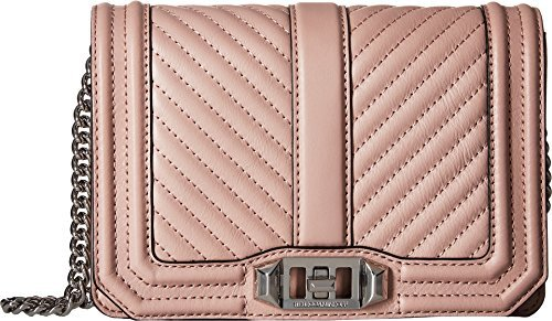 Rebecca Minkoff Women's Small Love Cross Body Bag, Vintage Pink, One Size by Rebecca Minkoff