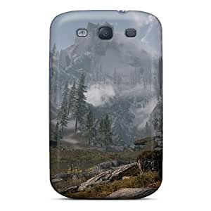AZo209wuuk Case Cover Skyrim Mountain Galaxy S3 Protective Case