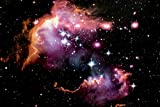 Black Light Reactive Wing of the Small Magellanic Cloud Space Poster
