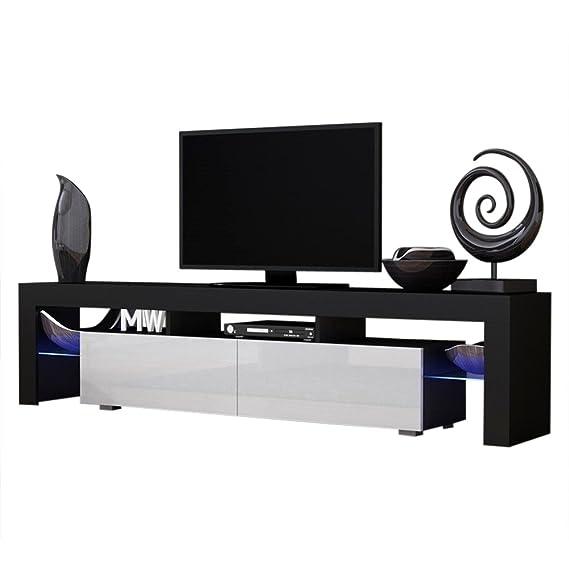 Amazon.com: MILANO 200 soporte de TV negro, gabinete para TV ...