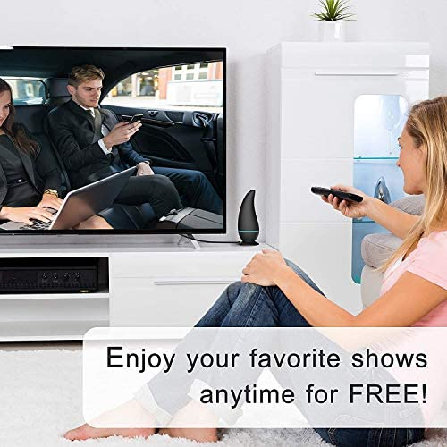 TV Antenna, 2020 New Indoor Amplified HD Digital TV Antenna 140 Miles Long Range with Amplifier Signal Booster 4K HD Local Channels Support All Television -9.8ft Coax Cable