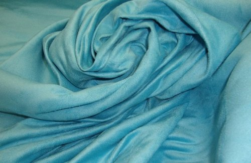 Aqua Suede Upholstery Drapery Fabric Per Yard (Suede Drapery)