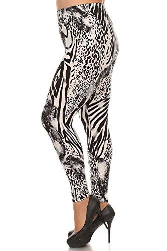 Zebra Print Yoga Pants - 4