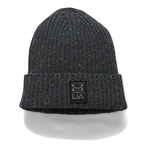 Under Armour Men's Hunt Wool Beanie, Black (001)/Stealth Gray, One Size