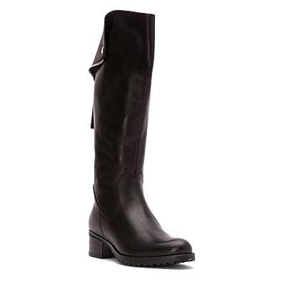 Summit White Mountain Women's Cailyn Riding Boot,Black Leather,EU ...