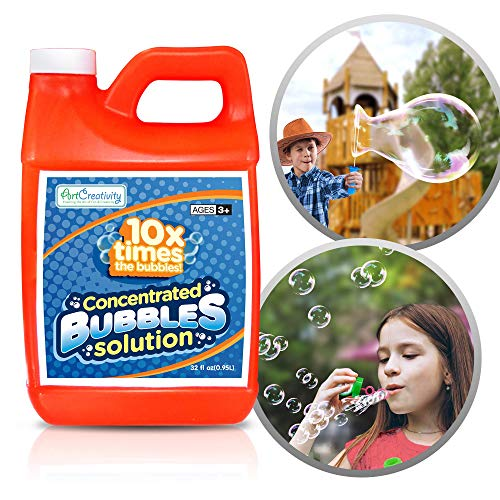 ArtCreativity Concentrated Bubble Solution Refill for Bubbles Toys, Up to 2.5 Gallon, Non-Toxic Large 32oz Concentrated Liquid for Bubble Machine, Bubble Guns, Wands, Bubble Lawn Mower and More