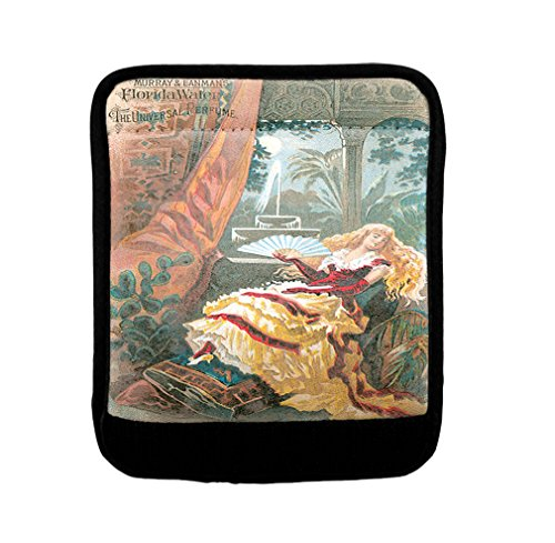 Woman With A Fan Vintage Perfume Luggage Handle Wrap Finder by Style in Print