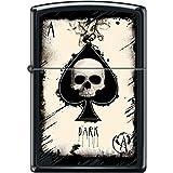 Zippo Dark Ace of Spades Skull Black Matte Lighter