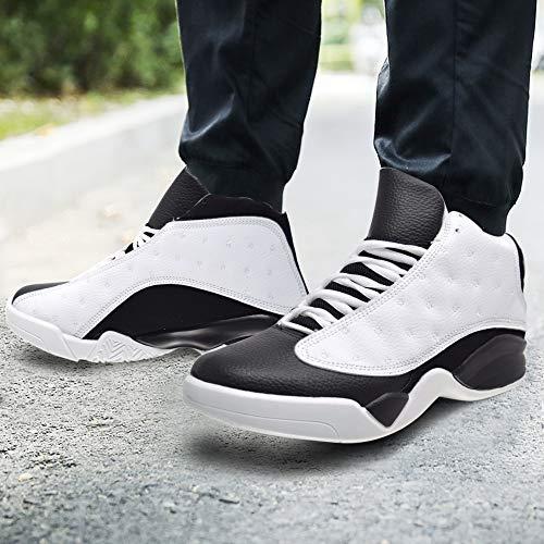 De Hombre Pu 40 Suede 36 Baloncesto Botas Black White Xelay Talla Para 561SHSqw