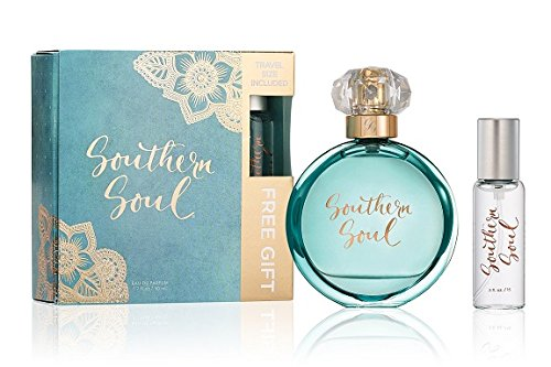 New Southern Soul Perfume Gift Pack for Women - Fruity Floral fragrance - Fresh Feminine Aroma - New Design (with FREE 0.5 oz Purse Spray) - 1.7 ()