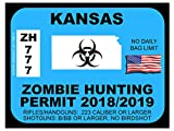 Kansas Zombie Hunting Permit(Bumper Sticker)