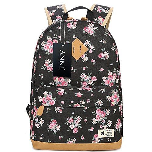 ANNE - Bolso mochila  de Lona para mujer negro azul oscuro Black2