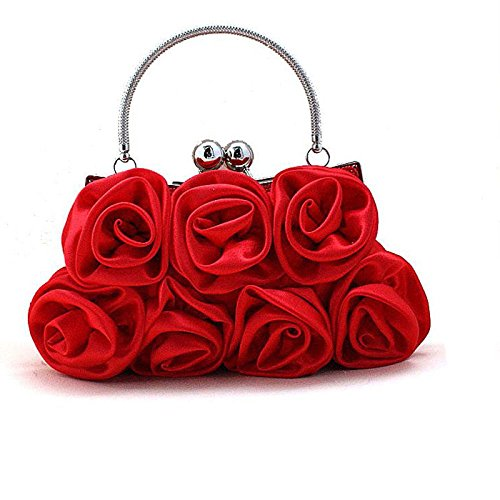 Novia De Boda Honor Atractivo Mujer Mano Cartera Red Dama Del Única Manera Salvaje Bolso Vestido Mindruer Red color Noche Temperamento La Paquete Tamaño Talla Embrague qYx5tww
