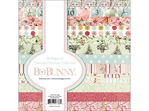 Bo Bunny Carousel Christmas Paper Pad 6 x 6 Cchristmas