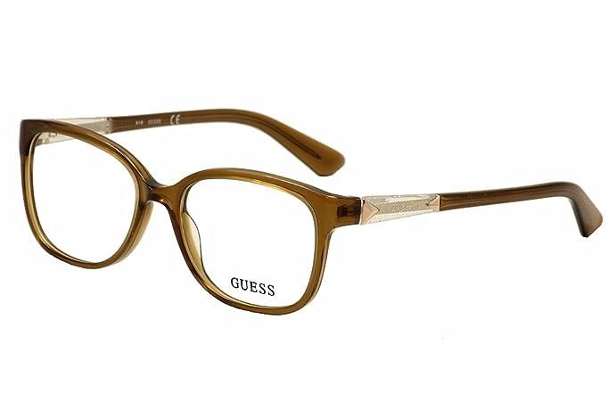 Amazon.com: Guess Eyeglasses GU2560 GU/2560 045 Brown/Crystal Full ...