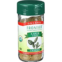 Frontier Organic Sage Leaf Spice - Ground - 0.8 Ounces