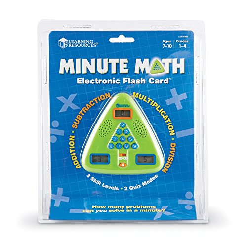 Learning Resources Minute Math Electronic Flash Card Gives Positive and Corrective Feedback (Visual and Auditory) Ideal for Ages 6+
