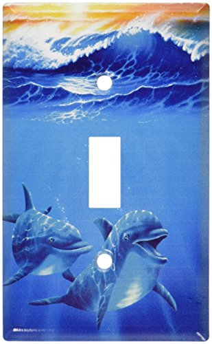 Art Plates - Dolphins at Play Switch Plate - Single Toggle (Dolphin Switchplate)