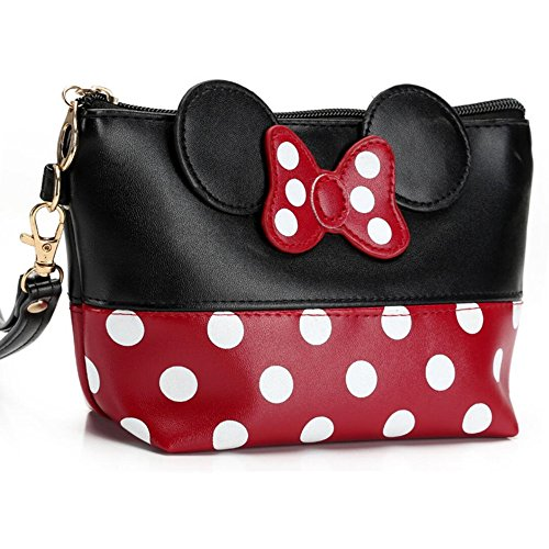 c7097e959b67 Tracy-B Cartoon Leather Travel Makeup Handbag