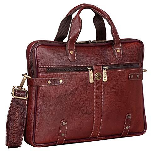 BRAND LEATHER 13 inch Laptop Messenger Bag