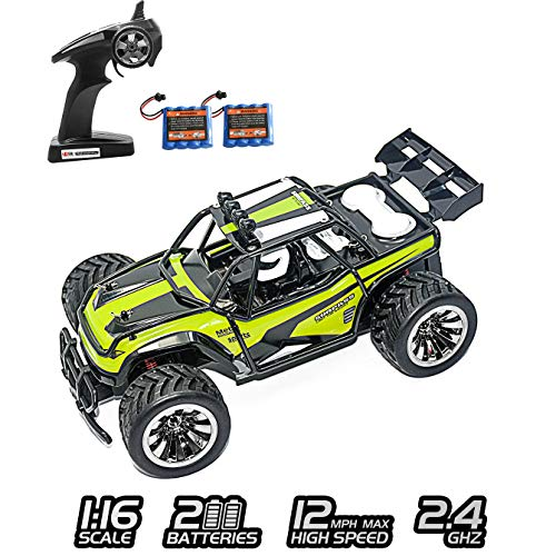 XINBAOHONG RC Car 1:16 Scale Electric Off Road Vehicle 2.4GHz Radio Remote Control Car 2W High Speed Racing Monster Truck Hobby Rock Crawler Toy (Green) ()